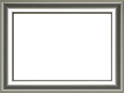 Silver Map Frame