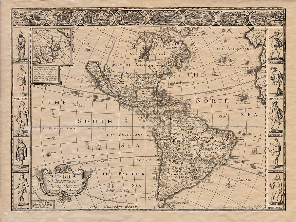 Old Map of Anerica