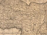 Detail from an old map of Africa