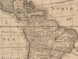 Detail from an old map of America