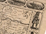 Detail from an old map of Bohemia