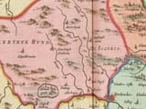 Detail from an old map of Brecon 1645