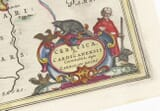 Detail from an old map of Cardiganshire 1645