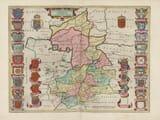 Old Map of Cambridgeshire 1645