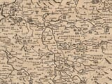 Detail from an old map of Cheshire