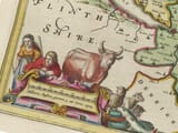 Detail from an old map of Cheshire 1645