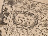 China Detail from old map