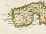Detail from an old map of Cornwall 1645