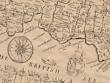 Detail from an old map of Cornwall