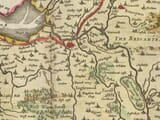 Detail from an old map of Cumbria 1645