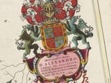 Coat of Arms on old map