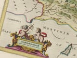 Detail from an old map of Denbighshire 1645