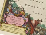 Detail from an old map of Derbyshire 1645