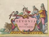 Detail from an old map of Devon 1645