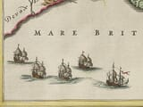 Detail from an old map of Dorset 1645