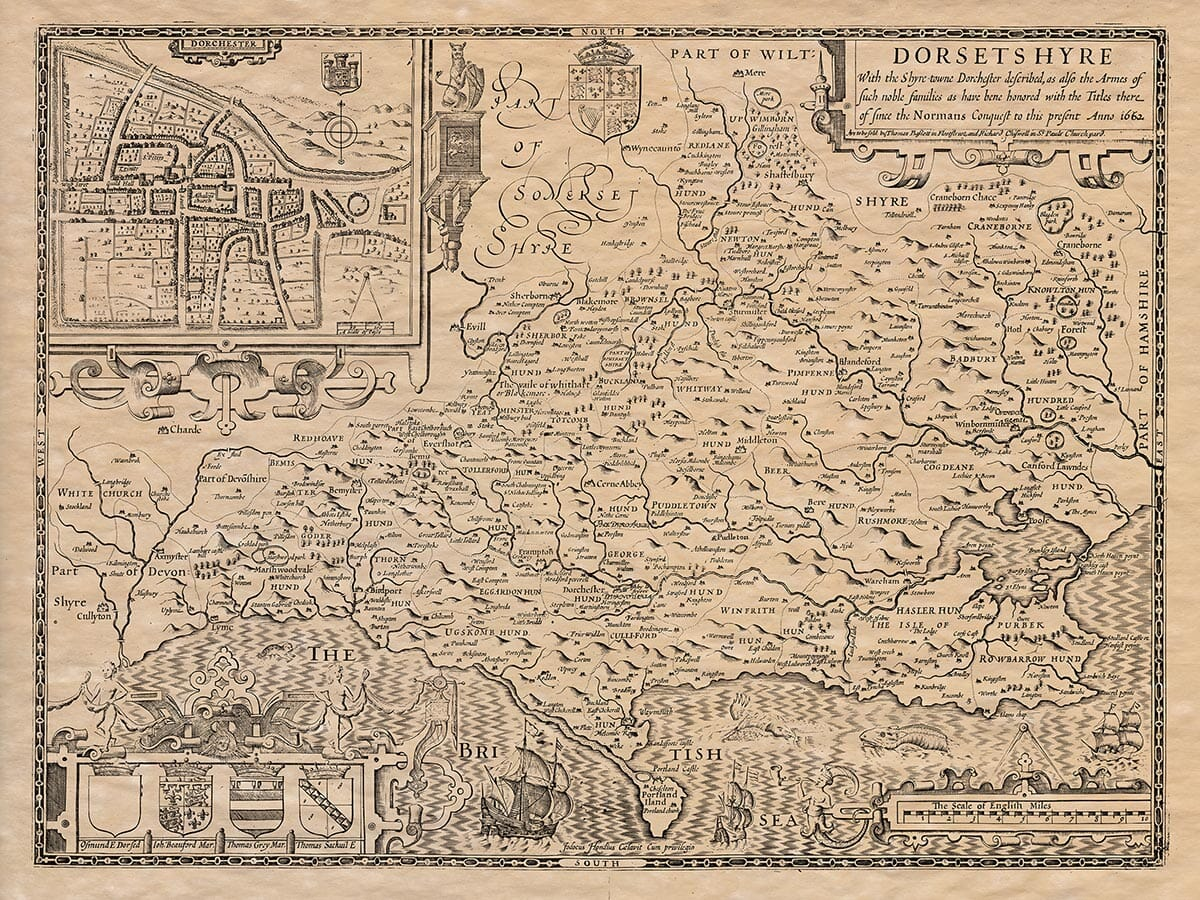 Old Map of Dorset