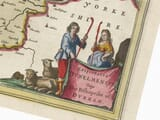 Detail from an old map of Durham 1645