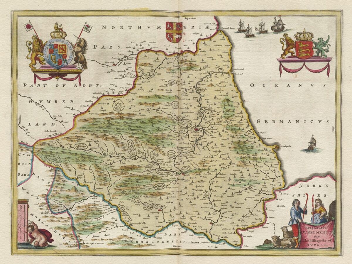 Old Durham Map