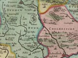 Detail from an old map of Essex 1645