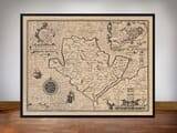 Framed Map of Anglesey