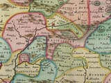 Detail from an old map of Hampshire 1645