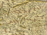 Hand Coloured map of Scotland Detail