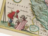 Detail from an old map of Herefordshire 1645