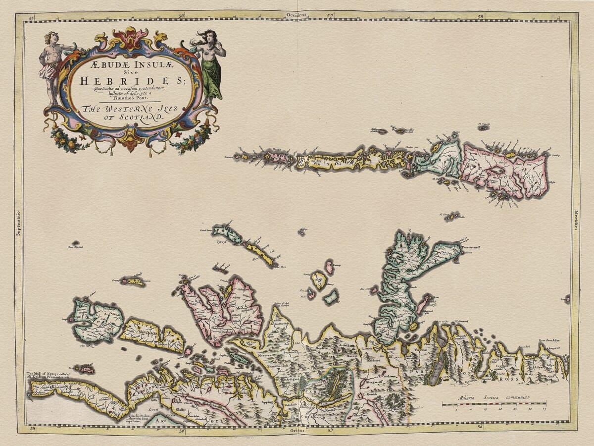 Old Hebrides Map
