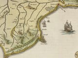 Detail from an old map of Isle of Wight 1645