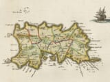 Detail from an old map of the Channel Islands 1645