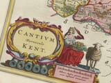 Detail from an old map of Kent 1645