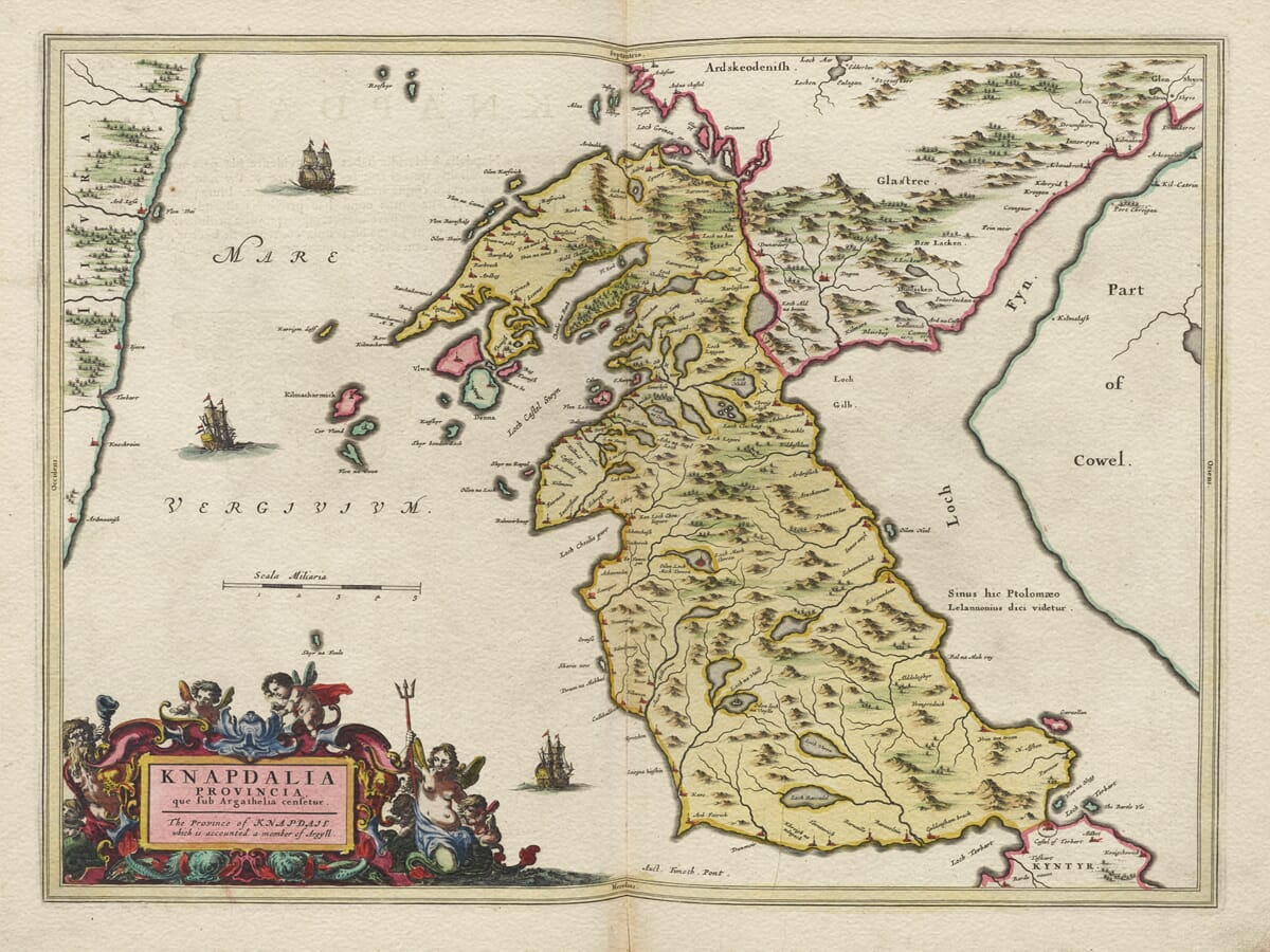 Old Map of Knapdale