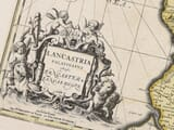 Detail from an old map of Lancashire 1645