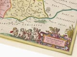 Detail from an old map of Leicestershire 1645