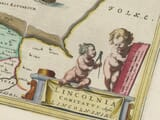 Detail from old map of Lincolnshire 1645