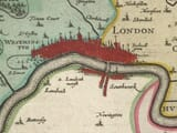 Detail from an old map of Middlesex 1645