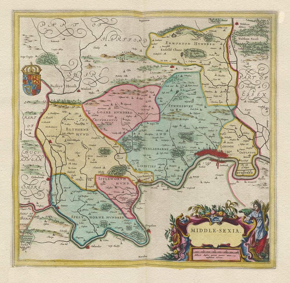 Middlesex Map 1645