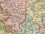 Detail from an old map of Monmouthshire 1645