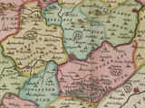 Detail from an old map Northamptonshire 1645