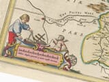 Detail from an old map of Northumberland 1645
