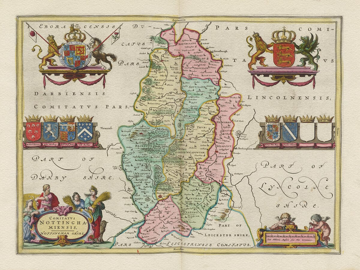 Early Nottingham Map
