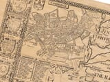 Detail from an old map of Cambridgeshire featuring a town plan