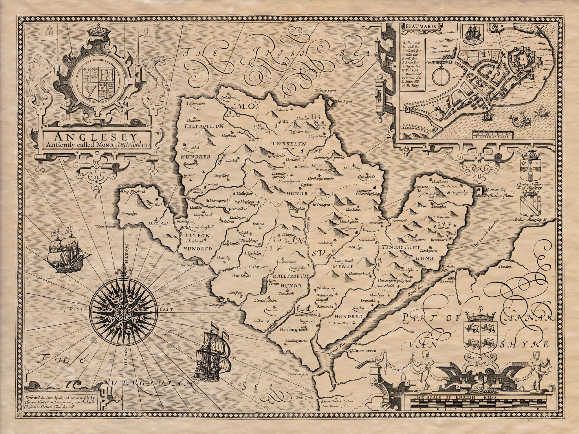 Old map of Anglesey