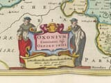 Detail from an old map of Oxfordshire 1645
