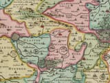 Detail from Old Map of Somerset 1645