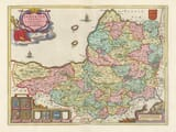 Old Map of Somerset 1645