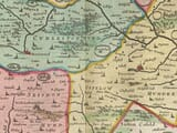 Staffordshire detail from old map