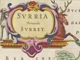 Early Surrey Map title piece