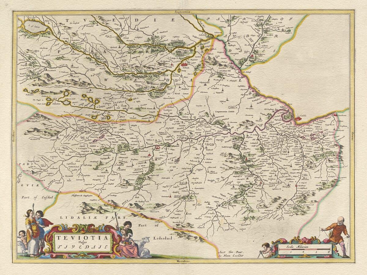 Teviotdale Old Map
