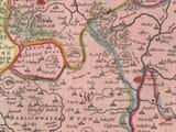 Old Worcestershire & Warwickshire Map